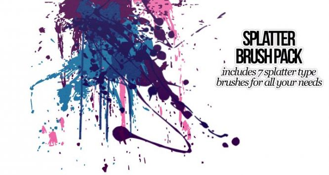 520-splatter-photoshop-brushes 3000 pennelli di photoshop in alta risoluzione e free
