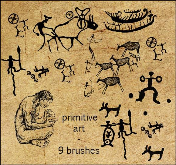 9 Primitive Art Brushes