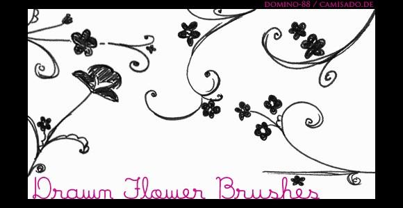 Drawn Flower Brushes