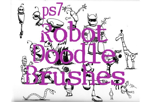 Robot Doodle Brushes