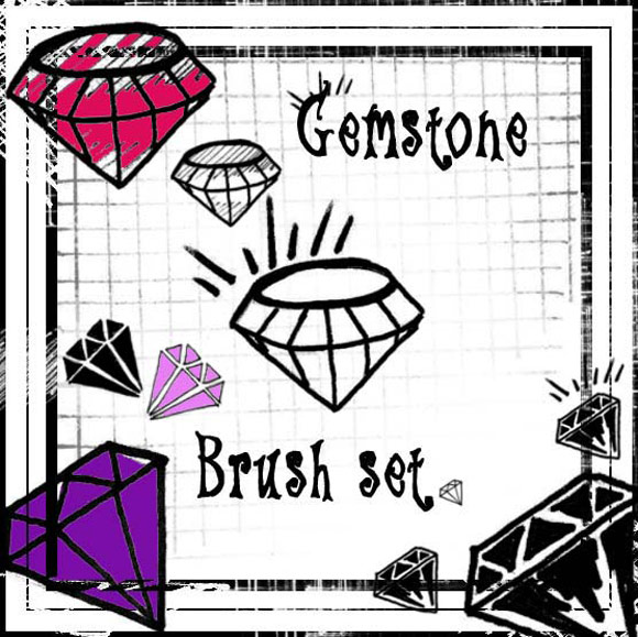Scene Gemstome Brush Set