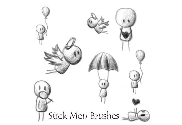 Stick Men Brushes