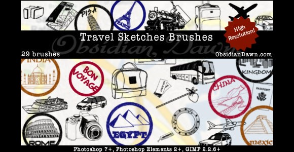 Travel Sketches Brushes