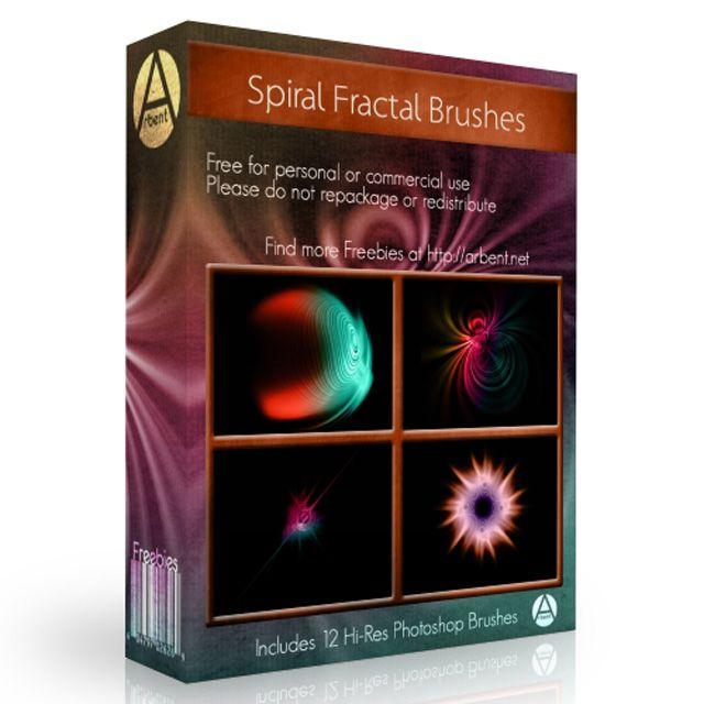 Hi-Res Spiral Photoshop Brushes