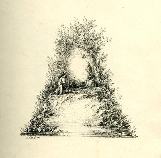 Splendide litografie di paesaggi trasformate in lettere
