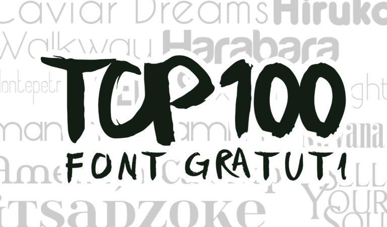 top 100 dei font gratuti del 2015 da avere assolutamente