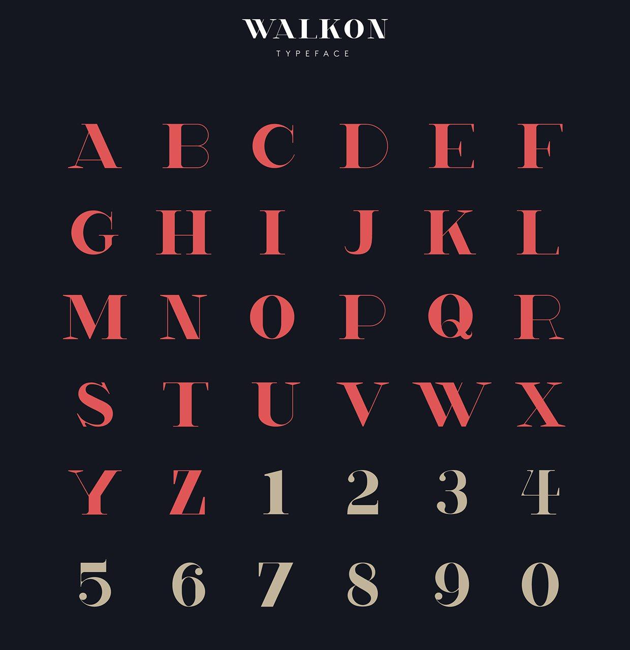 Font Walk on gliphs