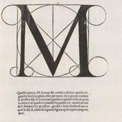 la xilografia tratta dal libro  il carattere rinascimentale di Luca Pacioli