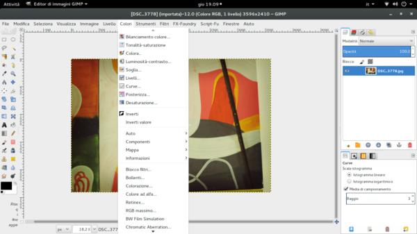 Schermata GIMP