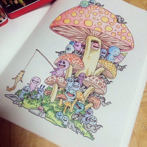 colorare libro disegno 2