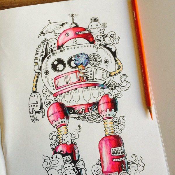 colorare libro disegno 3