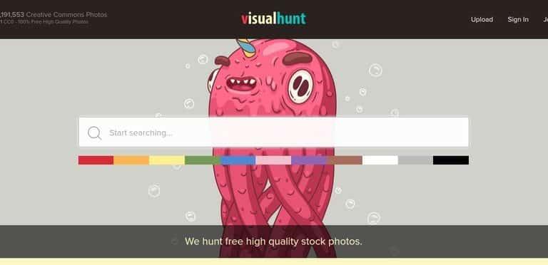 Visual Hunt il sito con piu di 300 milioni di foto free!