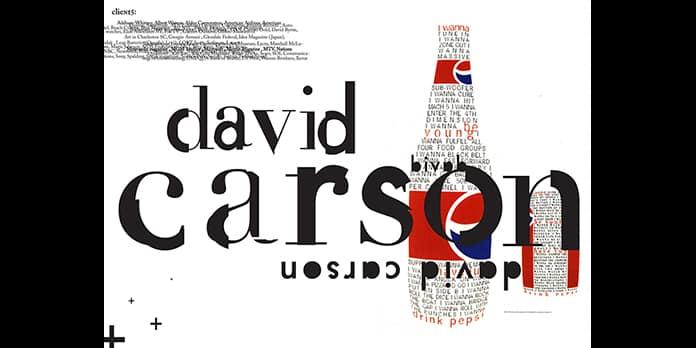 David Carson e la fine della stampa