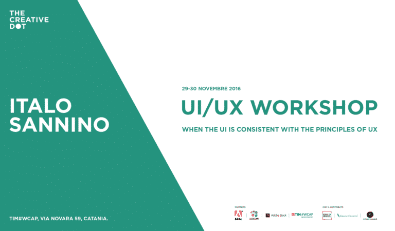 TDC Workshop / UI-UX design con Italo Sannino