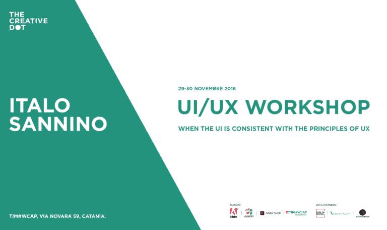 TDC Workshop / UI-UX design con Italo Sannino