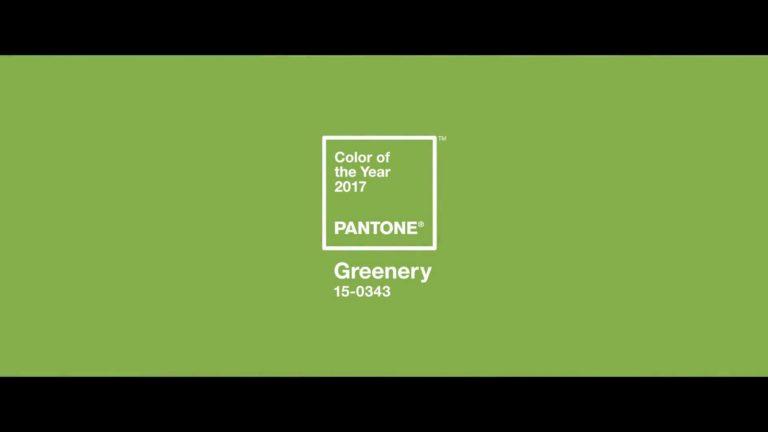 GREENERY: Il colore pantone 2017