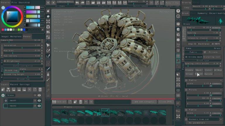 Polybrush 1.6 la versione 3D di Photoshop