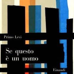 Se questo è un uomo, Primo Levi, Copertina Einaudi a cura di Bruno Munari