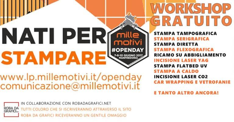 3 giorni di Workshop gratuiti per scoprire tutto sui processi di stampa!