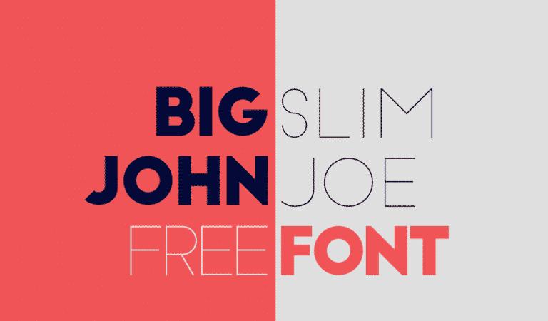 Font del giorno: Big John / Slim Joe