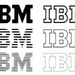 Varianti logo IBM, 1956