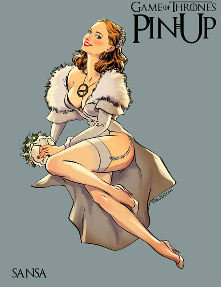 1521756030-1614-game-of-thrones-pin-up-5 Le ragazze di Game of Thrones trasformate in Pin Ups