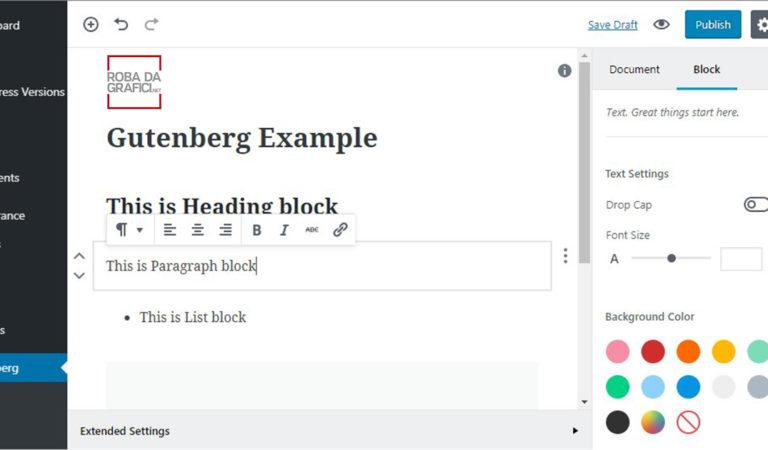WordPress 5.0 – In arrivo Gutenberg