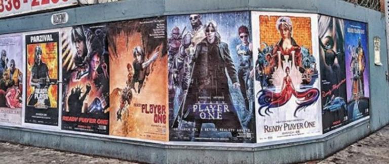 I poster hackerati di Ready Player One