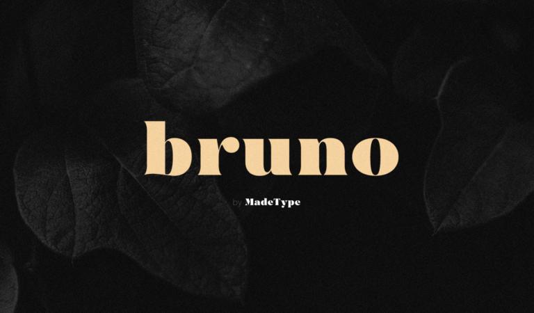 Font del giorno: MADE Bruno