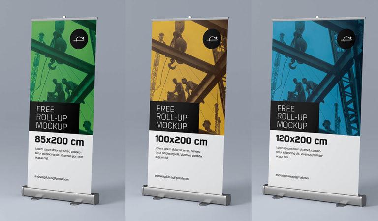 piu di 30 mockup gratuiti di banner rollup