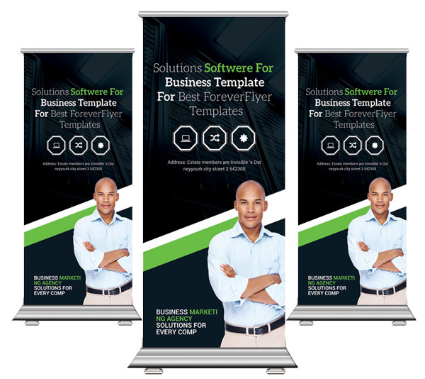 Roll Up Banner Mockup PSD Free Download