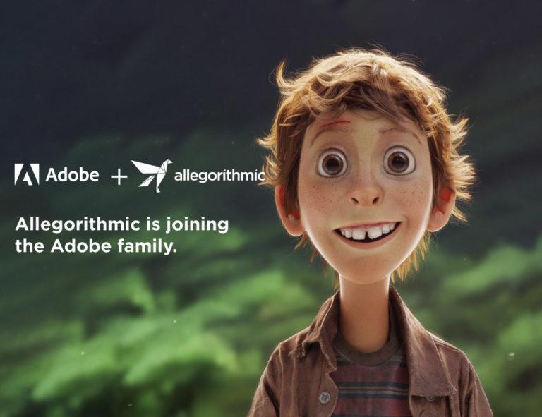 Adobe acquisisce Allegorithmic, il leader nell'editing 3D di giochi e intrattenimento