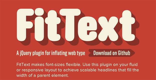 FitText 10 effetti di testo in jQuery per i vostri siti web