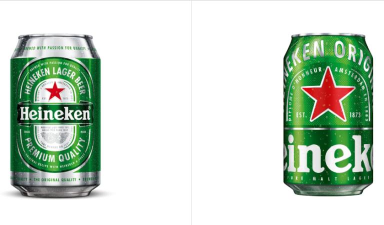 Heineken ha chiesto al grafico di fare il logo piu grande e lui ha eseguito! Heineken re-brand