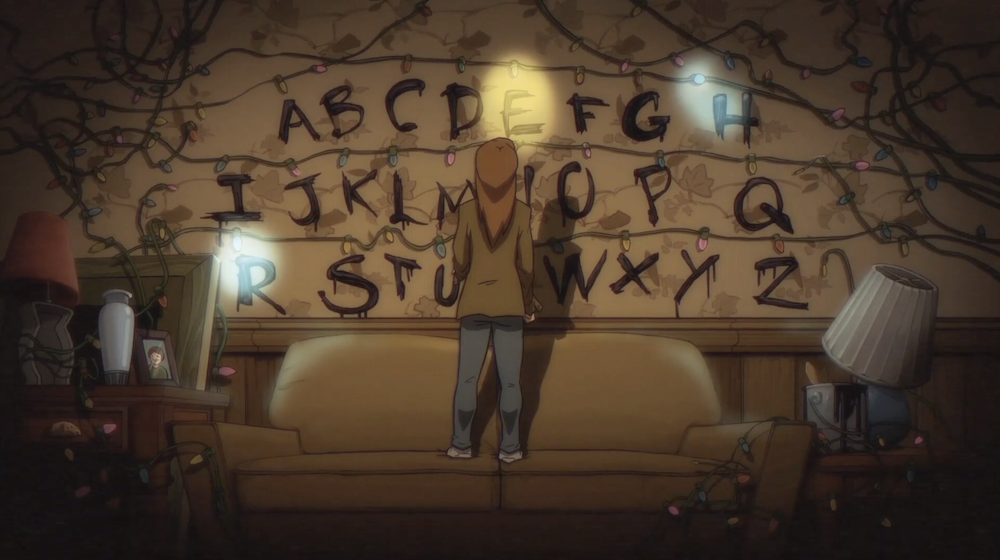stranger-things-animation-anime-annees-80-3 se Stranger Things fosse un anime degli anni '80