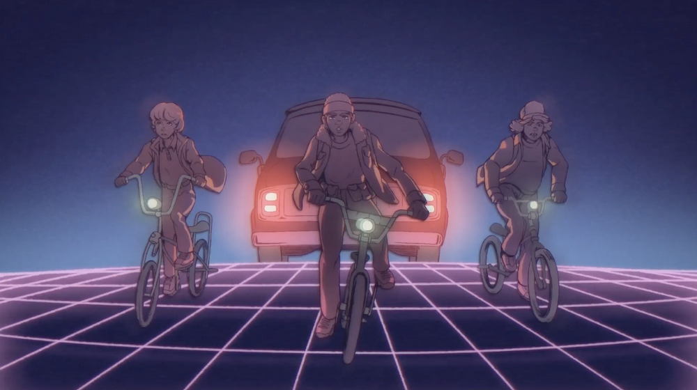 stranger-things-animation-anime-annees-80-4 se Stranger Things fosse un anime degli anni '80