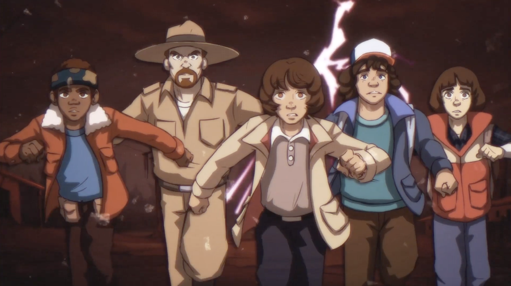 stranger-things-animation-anime-annees-80-8 se Stranger Things fosse un anime degli anni '80