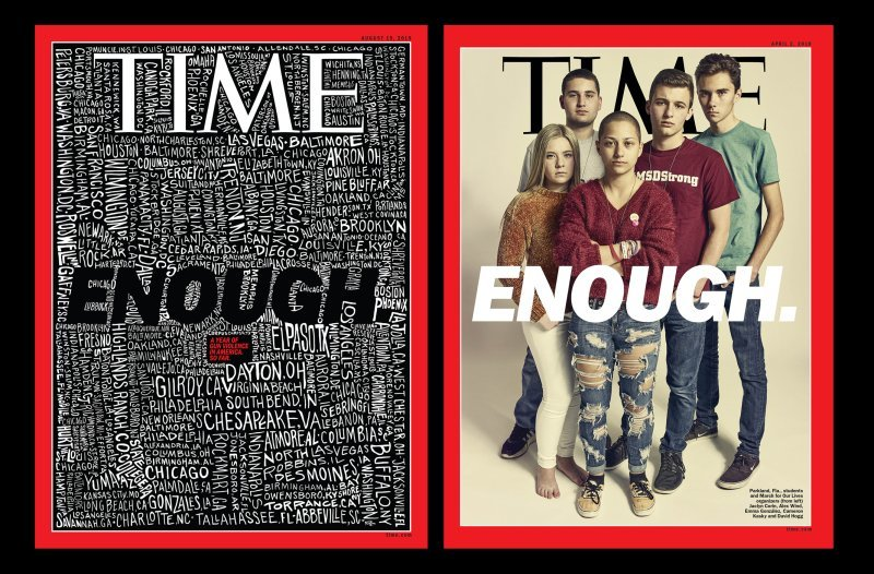 John-Mavroudis-enough-time-cover-illustration-itsnicethat-02 Time Magazine e la sua copertina sulle sparatorie di massa