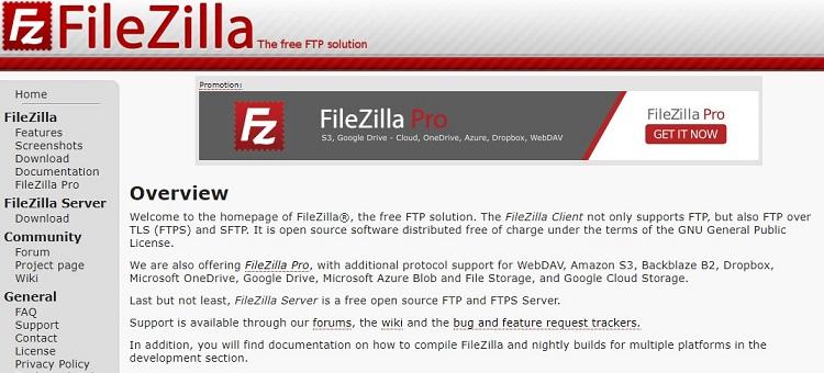 strumenti web gratuiti per FTP