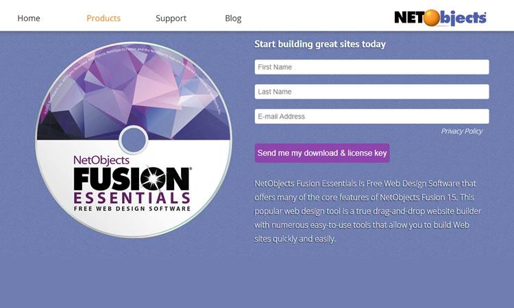 Fusion Essential: strumento di progettazione web gratuito