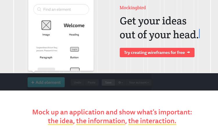 Mockingbird - Strumento di progettazione wireframe del sito
