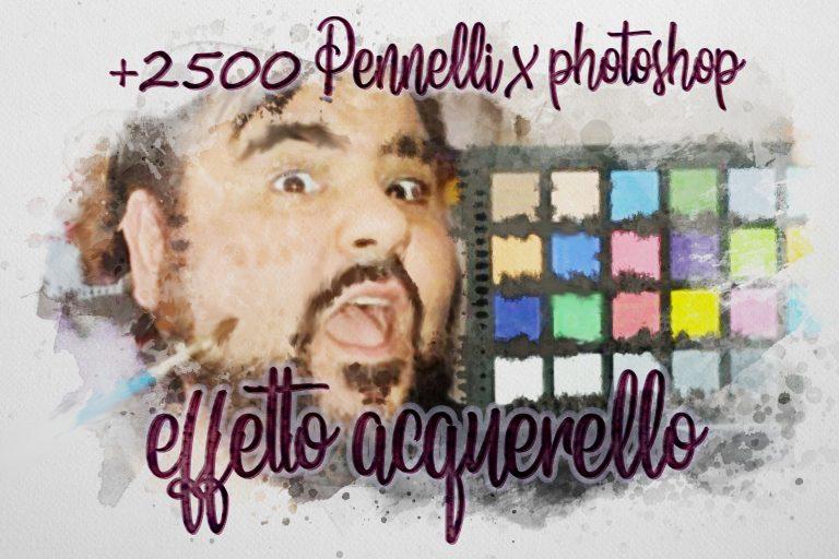 2500 pennelli per Photoshop effetto acquarello